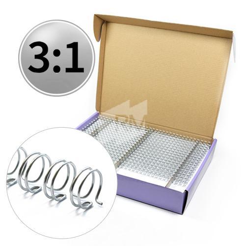 RM Drahtbinderücken 3:1, A4, NC-silber, 4,8mm