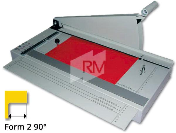 RM Register-Schneidmaschine 5 - 90° Form 2