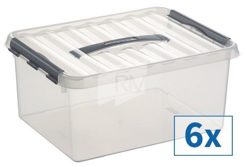 6x Sunware Q-Line Aufbewahrungsbox, 15 l