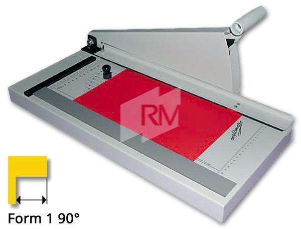 RM Register-Schneidmaschine 3 - 90° Form 1