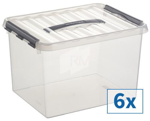 6x Sunware Q-Line Aufbewahrungsbox, 22 l