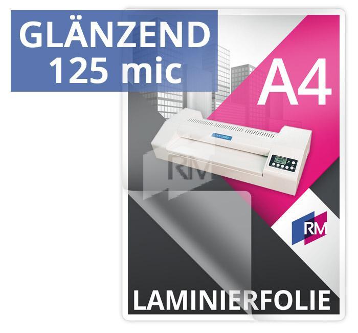 Laminierfolie A4 125mic glaenzend