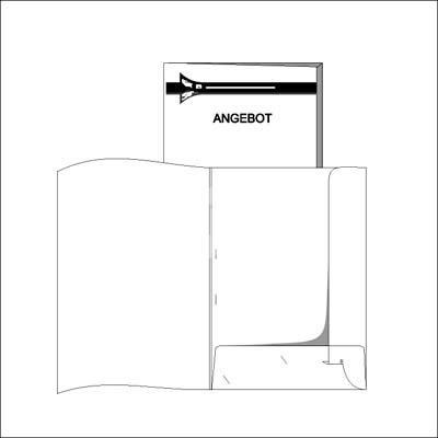 + Einlegemappe Standard weiß, Füllhöhe 3mm