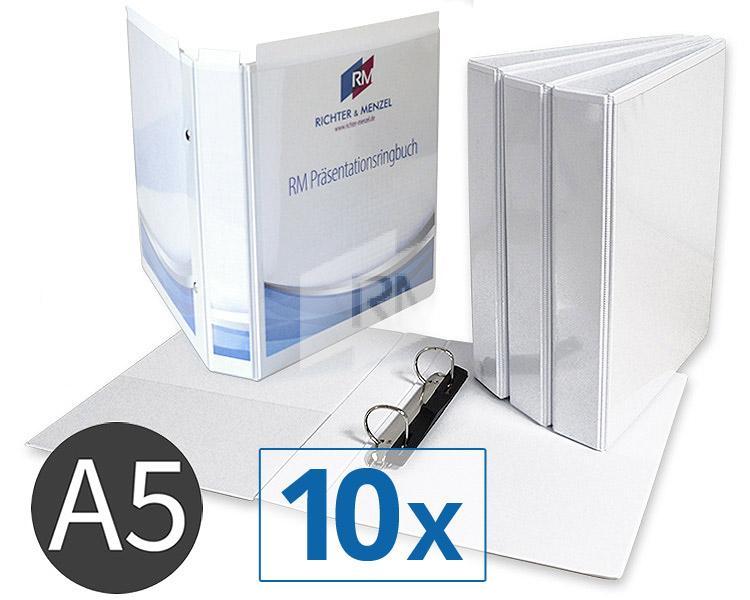 RM Präsentations-Ringbuch A5, 2 Ringe, FH 25mm