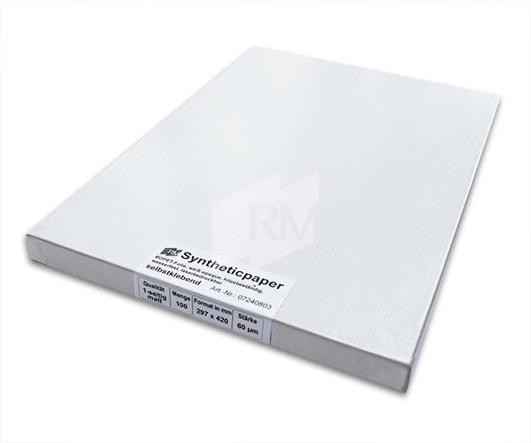 RM Synthetisches Papier, 60µ, A3 selbstklebend