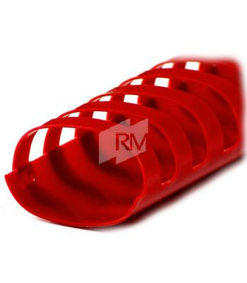 Plastikbinderuecken 32mm rot oval 21Ringe